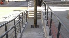 A wheelchair ramp was built in my city.