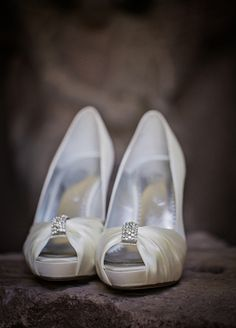 White bridal shoes // // Photo: Amy Bennett Photography