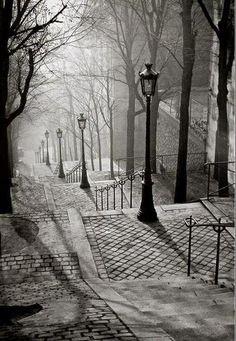 Les Escaliers de Montmartre, Paris by Brassai, 1936