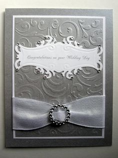 Elegant Handmade Wedding card metallic by BellaCardCreations, $4.25
