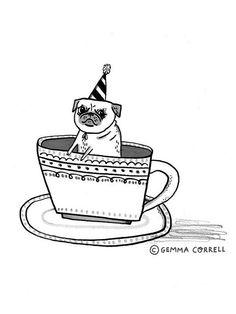 Pug in a Teacup #gemmacorrell