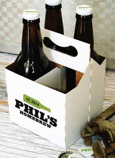 Bottle Carriers Custom Printed four or six by custombeerlabels