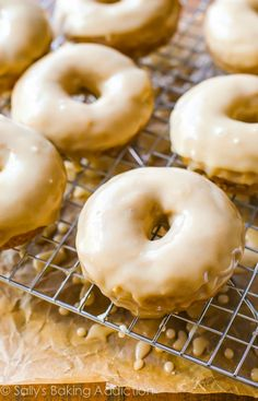 These maple glazed donuts are the perfect accompaniment to cool fall mornings and hot cups of coffee. Save a trip to the donut shop and try them at home!