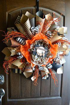 : Halloween Paper Cone Wreath