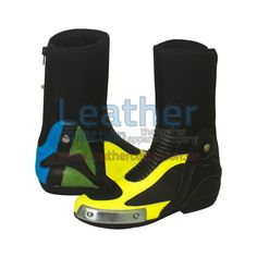 Valentino Rossi Ducati MotoGP 2012 Race Leather Boots - https://www.leathercollection.us/en-we/blog/valentino-rossi-ducati-motogp-2012-race-leather-boots-2/