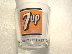 Vintage Shot Glass 7 UP Advertising Nice Condition Rare piece & limited #7up