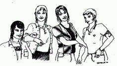 skin girls. #skinheads #punk #chelsea #illustration