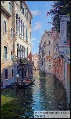 venice oil painting ,venice landscape paitning,