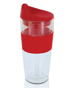 Love this Red 14-Oz. Café Moderno Glass Tumbler by Smart Planet on #zulily! #zulilyfinds