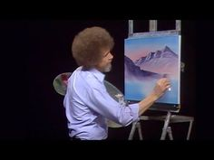 The day's sun is almost gone, but Bob Ross finds what's left of it in this unusual blend of late afternoon tones. Season 13 of The Joy of Painting with Bob R. Pinturas Bob Ross, Bob Ross Painting Videos, Bob Ross Paintings, Painting Lessons, Painting Techniques, Bob Ross Episodes, Robert Ross, Bob Ross Quotes, Bob Ross Art