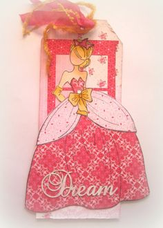 Tag, Book Marker, Julie Nutting Doll, Friendship Tag, Princess Tag, Dream, Prima Doll Stamp