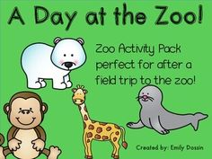 Zoo Field Trip Activity Pack FREEBIE perfect for your class after a field trip to the zoo! This pack includes 7 printables.