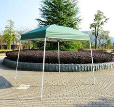 Polar Aurora 8' X 8' 5 Color Outdoor Slant Leg Easy Pop up Popup Canopy Party Sun Shade Tent (Green)