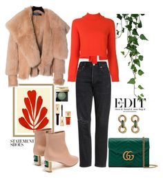 """16.01.18"" by caglatersak on Polyvore featuring moda, Alexander McQueen, Citizens of Humanity, Rejina Pyo, Balmain, Gucci, Gabriela Hearst, Bobbi Brown Cosmetics, Yves Saint Laurent ve GREEN"