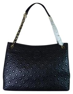 e05e1a1f9 Marion Quilted Shoulder Black Leather Tote. Tradesy
