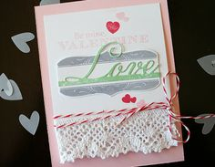 Be Mine, Valentine Card by Danielle Flanders for Papertrey Ink (December 2013)