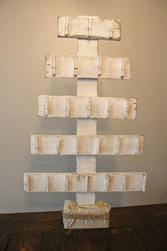 pallet wood tree + advent calendar