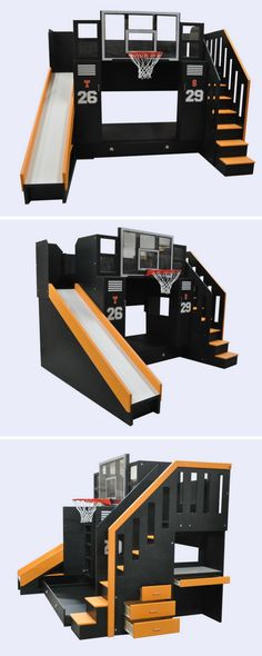 The Ultimate Basket Ball bunk is the ultimate design for the aspiring athlete in your life. Click to learn more about the Ultimate and all its features.