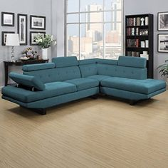 Transitional Style Sectional Sofa with Innovative Design