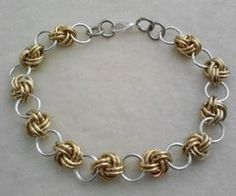 Love Knot Chain Maille chainmail bracelet by FyrestormCreations