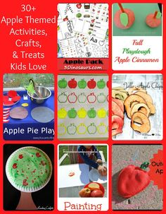 30+  Apple Crafts, Activities, and More The Kids Love by FSPDT