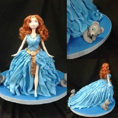 I like the skirt portion for any doll cake. Different and beautiful