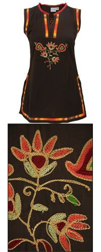 <3 THIS ONE!! - Rainbow Embroidered Tunic at The Rainforest Site
