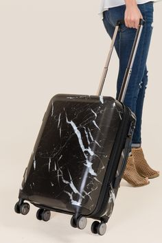 CALPAK Astyll Marble Carry-On Luggage in Black 9ed9508f2ba77