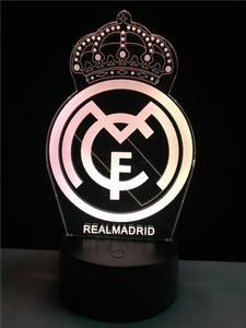 Real Madrid logo LOGO touch 3D colorful Nightlight lamp – 3D Optical Lamp Real Madrid Logo Wallpapers, Equipe Real Madrid, Real Madrid Football Club, Cristiano Ronaldo Wallpapers, Iphone Logo, Ronaldo Real Madrid, 3d Light, Light Crafts, Hair And Beard Styles