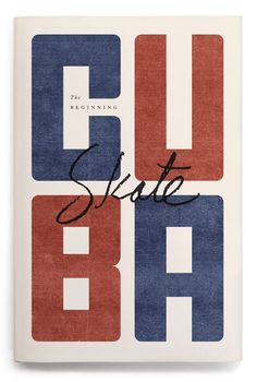 Cuba Skate Magazine Cover #book in Calligraphy/lettering/typography