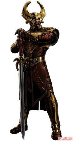 Heimdall character model from Marvel: Avengers Alliance Marvel Dc Comics, Marvel Avengers Alliance, Marvel Art, Marvel Heroes, Thor Marvel, Comic Book Characters, Marvel Characters, Comic Character, Comics Universe