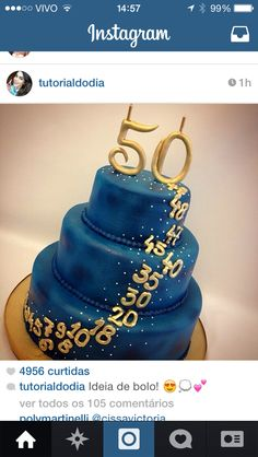 Cake throughout the ages – Rezepte – Gateau – Cake – Recipes Birthday Cake Ideas For Adults Women, 50th Birthday Party Ideas For Men, Moms 50th Birthday, 60th Birthday Cakes, Golden Anniversary Cake, 50th Wedding Anniversary, 50th Birthday Centerpieces, Butterfly Birthday Cakes, Artist Cake