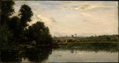 Charles-François Daubigny (French 1817–1878), Washerwomen at the Oise River near Valmondois, 1865.