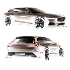 Volvo concept Estate car  looks amazing !