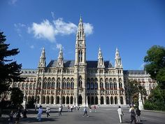 Vienna, Austria, the Rathaus. One of the most beautiful structures on the planet.