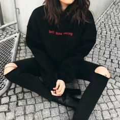 Blackpink Cropped Hoodie Women Harajuku Ariana Grande Bts Monsta X Exo Kpop Gothic Riverdale Black Oversized Hoody – Hot Products Jeans Und Hoodie, Cropped Hoodie, Fleece Hoodie, Black Ripped Jeans Outfit, Black Hoodie Outfit, Tumblr Outfits, Mode Outfits, Fashion Outfits, Style Outfits
