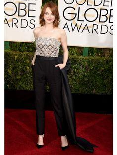 Emma Stone In Lanvin.  ELLE