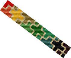 DIY Loom Pattern Coloured Pieces Bracelet Beaded by MarmosaArt