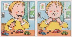 Immagini di situazioni pericolose Riconoscere e imparare ad evitare le situazioni di pericolo Daily Schedule Preschool, Preschool At Home, Preschool Math, Kindergarten, Inference Pictures, Sequencing Pictures, Story Sequencing, Montessori Activities, Learning Activities