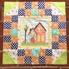 I Love Home Free BOM, block 2, made by The Quilting Nook, designed by Jacquelynne Steves. #ILoveHomeQuilt #applique #housequilt