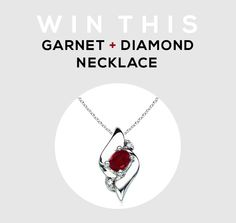 GIVEAWAY // Win A Garnet  and Diamond Necklace from Angara.com! This giveaway will run through November 4th. The winner will be randomly chosen and listed here on the Rafflecopter form within 48 hours of its ending.  Thanks again to Angara for offering up this beautiful necklace to one of our readers.   Good luck!