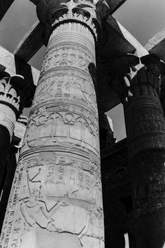 Fine Art Image of Kom Ombo Temple's Hieroglyphs. You can see here the details of the Composite Columns with capital decorations in floral patterns. Image taken in Egypt 2004 / All Rights Reserved © Marie-Eve Painchaud Composite Columns, Floral Patterns, Professional Photography, Art Images, Egypt, Temple, Eve, Decorations, Fine Art