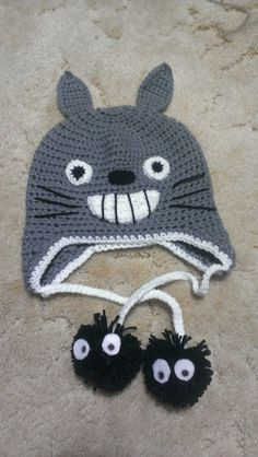 Crochet Totoro Hat by littlered1618 on Etsy, $15.00
