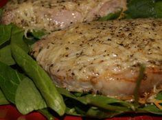 Yum... I'd Pinch That! | Parmesan Baked Pork Chops