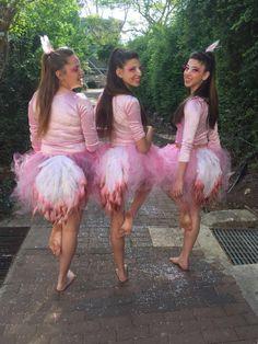Pink flamingo costume homemade diy