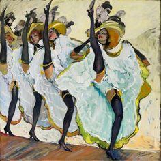 """Art Print """"The Can-Can"""", c Folies Bergere, Moulin Rouge Henri De Toulouse Lautrec, Renoir, Belle Epoque, Monet, Jean Gabriel Domergue, Pierrot Clown, Edouard Manet, Poster Prints, Art Prints"""