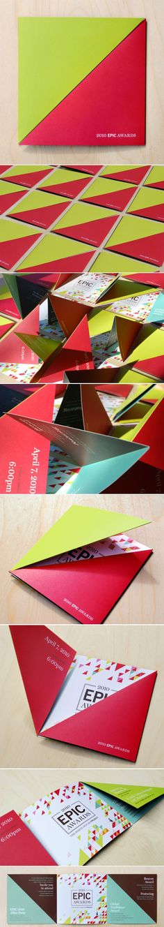 This is a really nice way of introducing an interesting fold - and in particular, a 'split screen' type of effect. Flugblatt Design, Buch Design, Flyer Design, Layout Design, Print Design, Graphic Design Branding, Graphic Design Art, Typography Design, Packaging Design