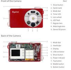 Bigshot est un appareil photo en kit, facile à monter soi-même comme tous les produits DIY.