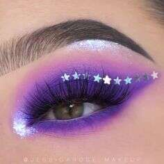 Purple Eye Makeup, Makeup Eye Looks, Colorful Eye Makeup, Eye Makeup Art, Crazy Makeup, Eyeshadow Makeup, Makeup Inspo, Eyeliner, Fairy Makeup
