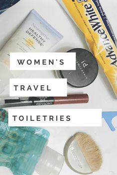 A complete list of toiletries for women, practical tips fro a tour guide. Toiletries List, Travel Toiletries, Travel Tours, Travel Hacks, Travel Ideas, Travel Advice, Travel Inspiration, Travel Essentials, Online Travel Agent